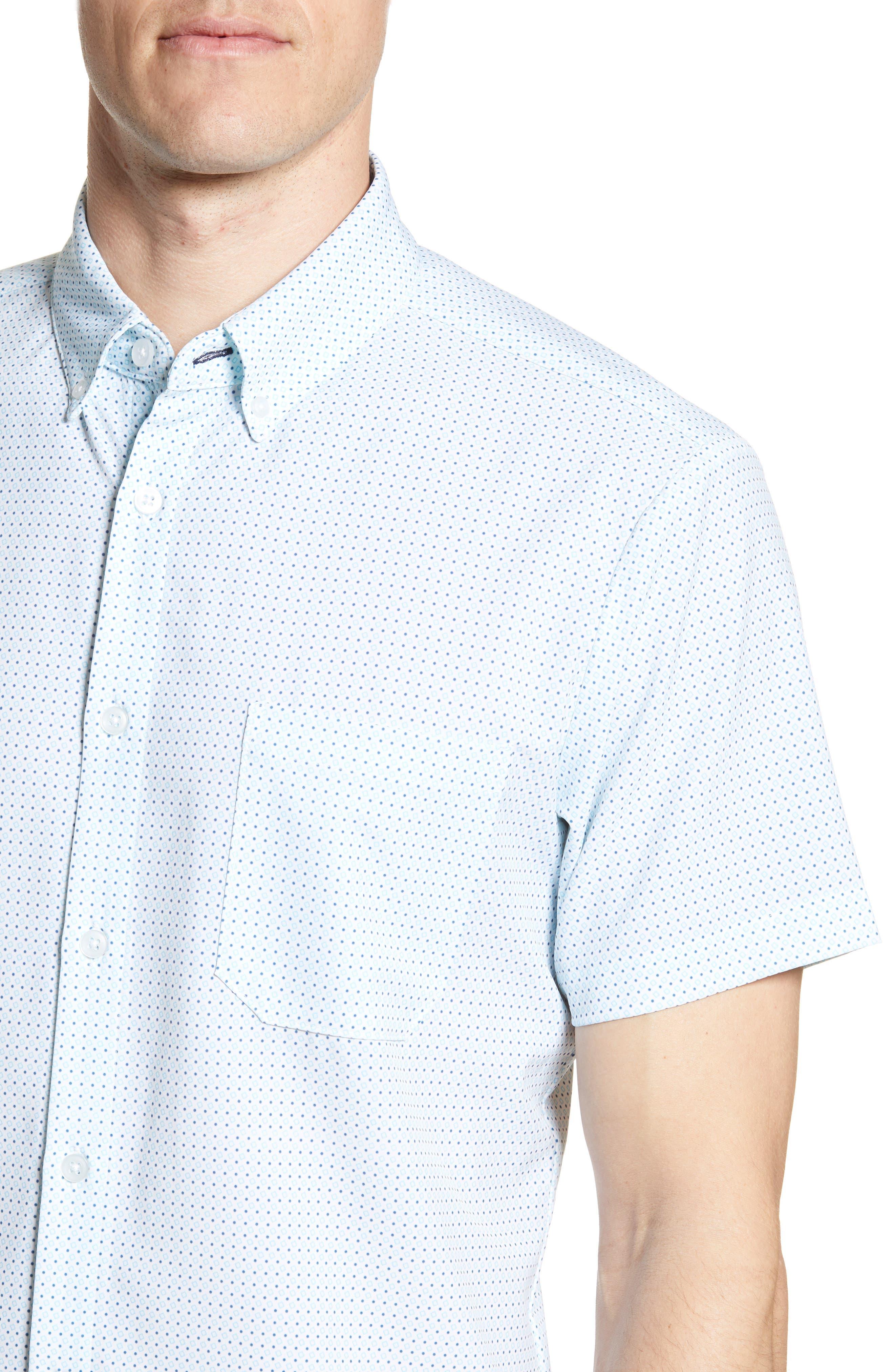 ,                             Burton Trim Fit Dot Print Performance Sport Shirt,                             Alternate thumbnail 2, color,                             BLUE
