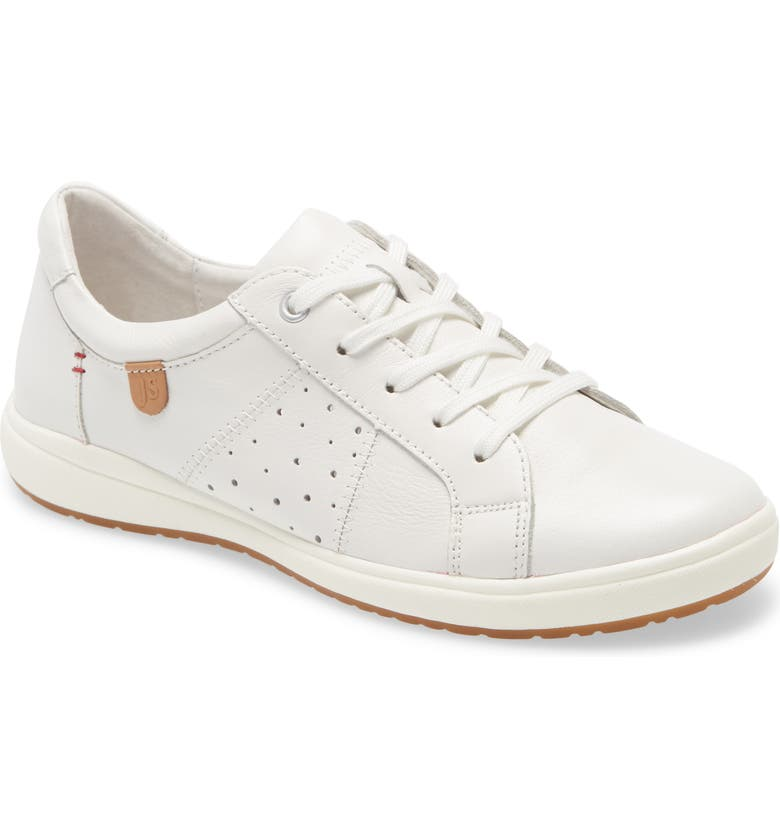 JOSEF SEIBEL Caren 01 Sneaker, Main, color, WHITE LEATHER