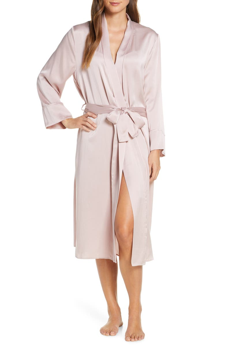 PAPINELLE Musk Long Silk Robe, Main, color, 650