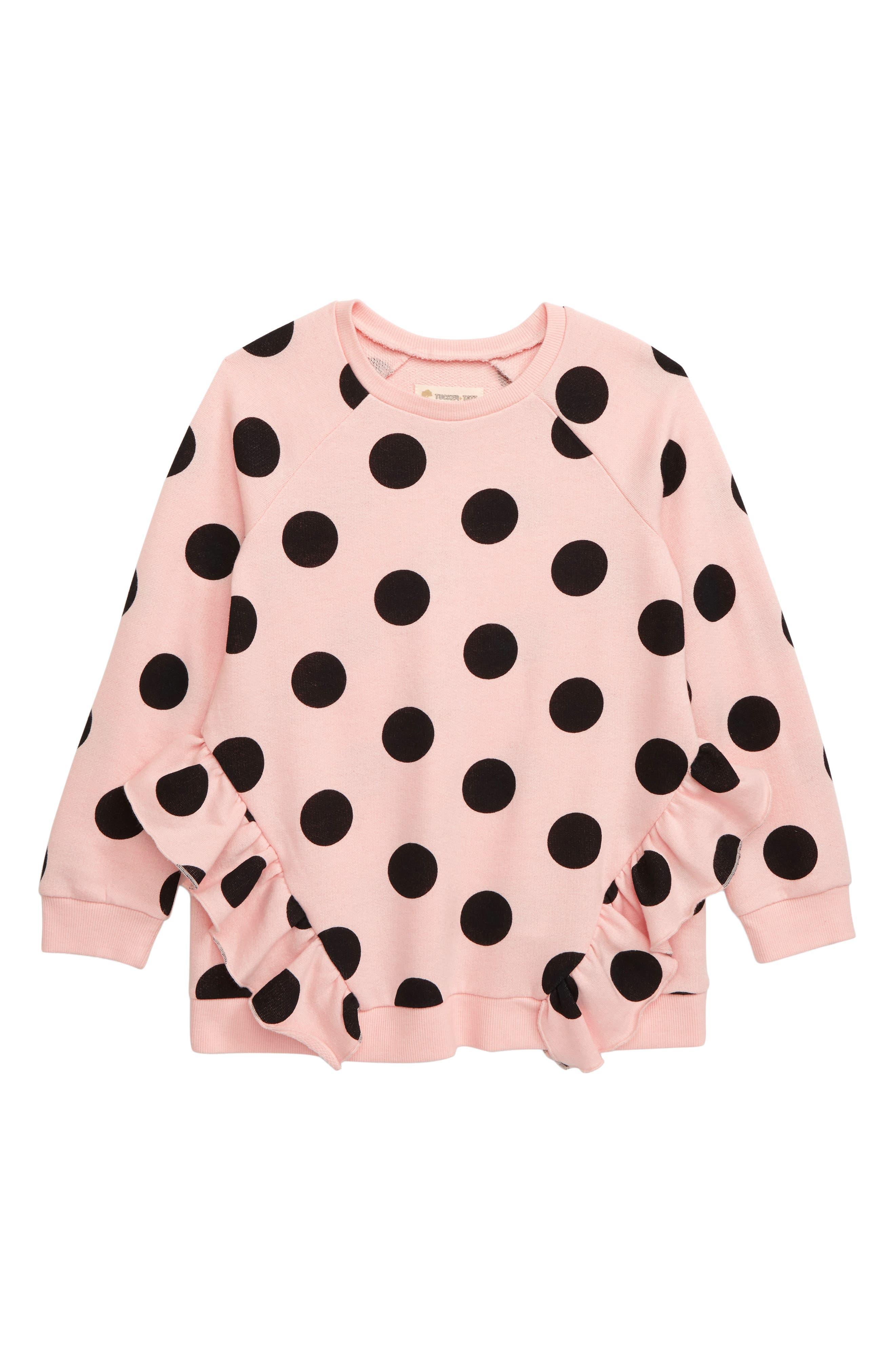 Toddler Girls Tucker  Tate Ruffle Fleece Tunic Top Size 3T  Pink