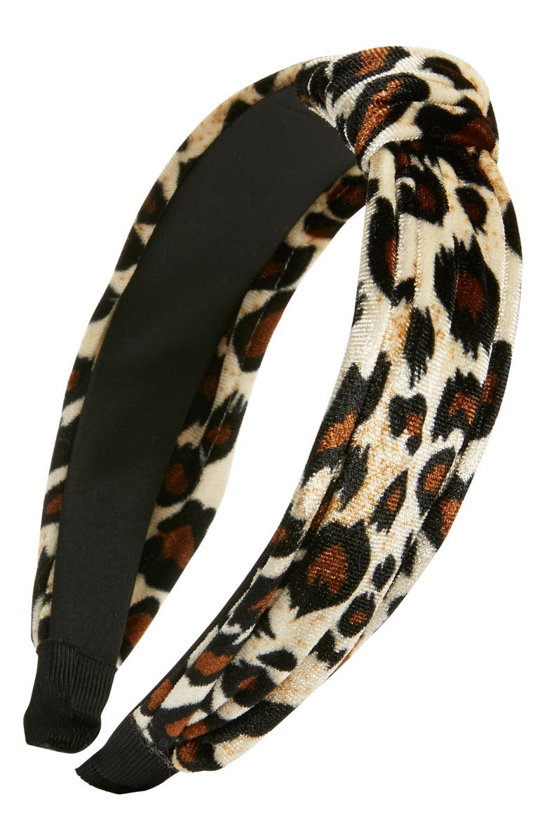 TASHA Velvet Knot Headband, Main, color, 200