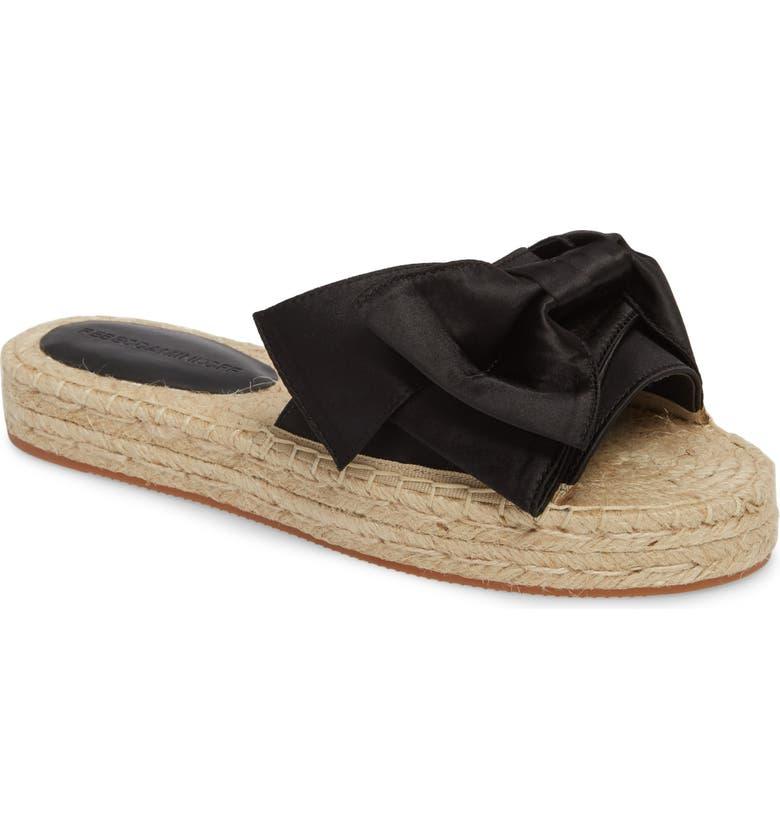 REBECCA MINKOFF Giana Bow Slide Sandal, Main, color, 001
