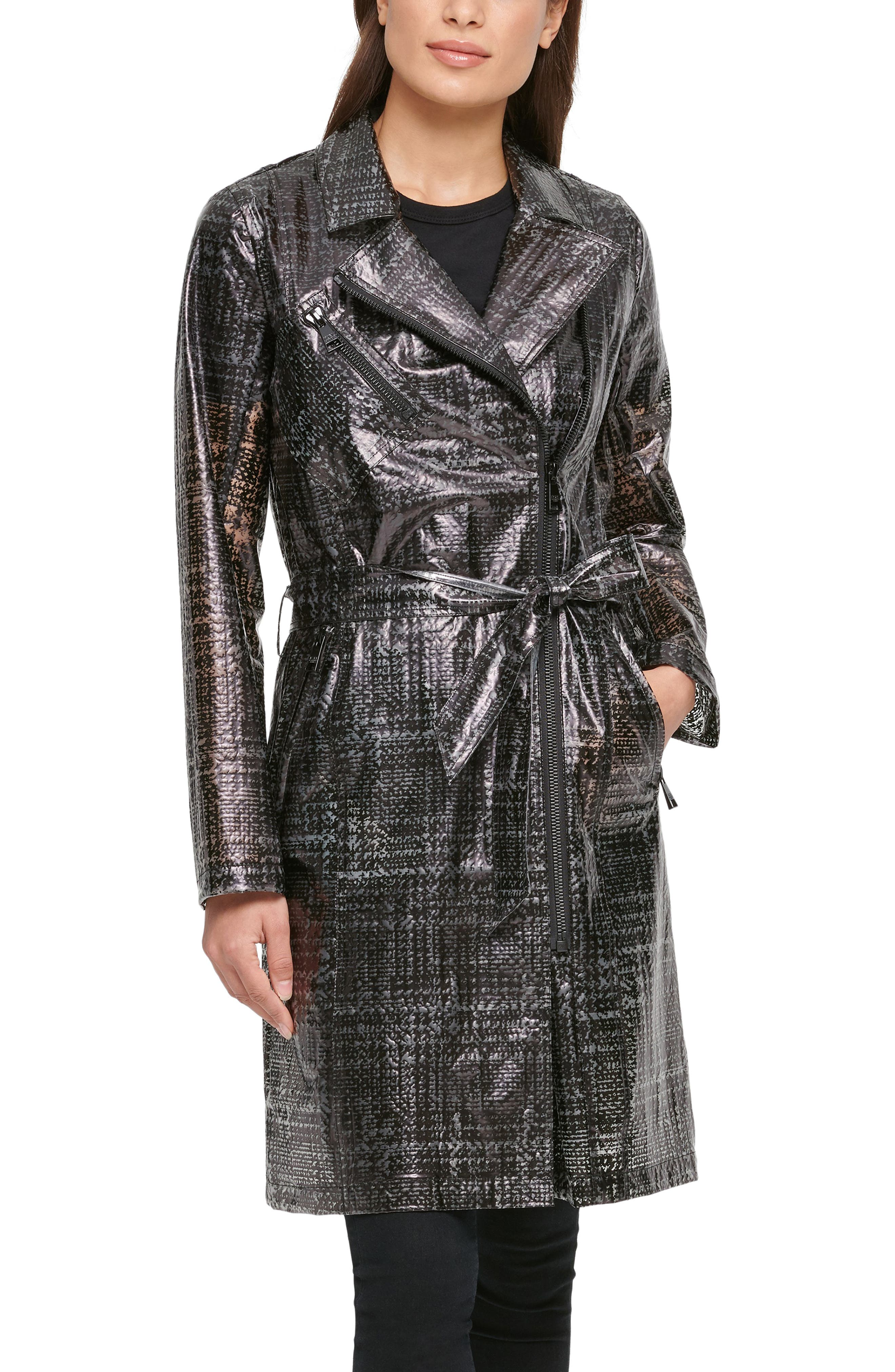 Water Resistant Transparent Trench Raincoat