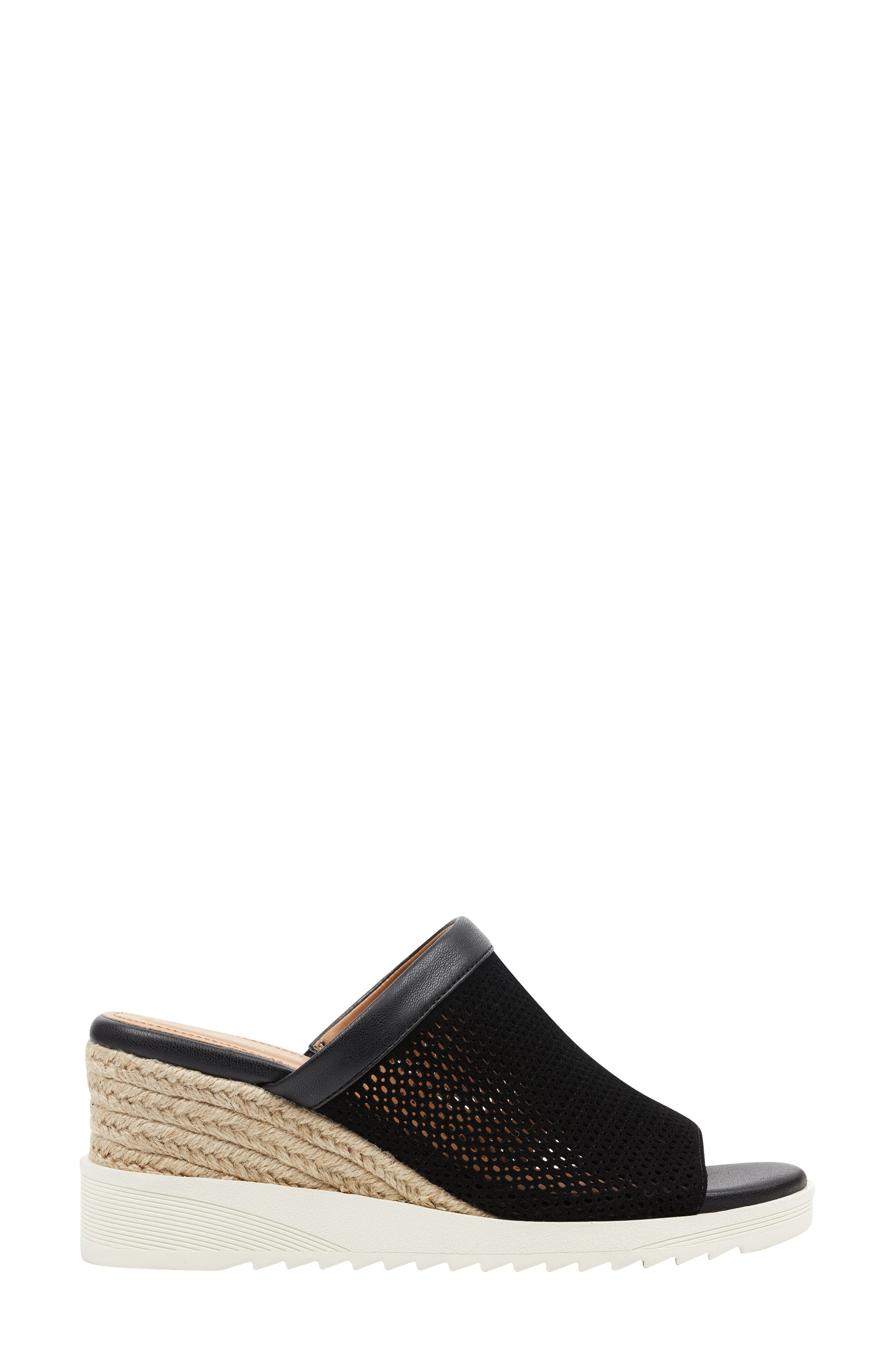 ,                             Zooey Wedge Slide Sandal,                             Alternate thumbnail 2, color,                             BLACK SUEDE
