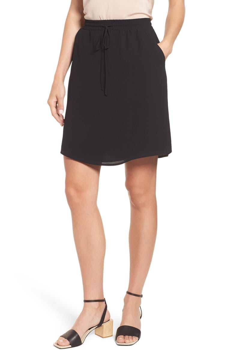 GIBSON x Hi Sugarplum! Monterey Easy Skirt, Main, color, 001