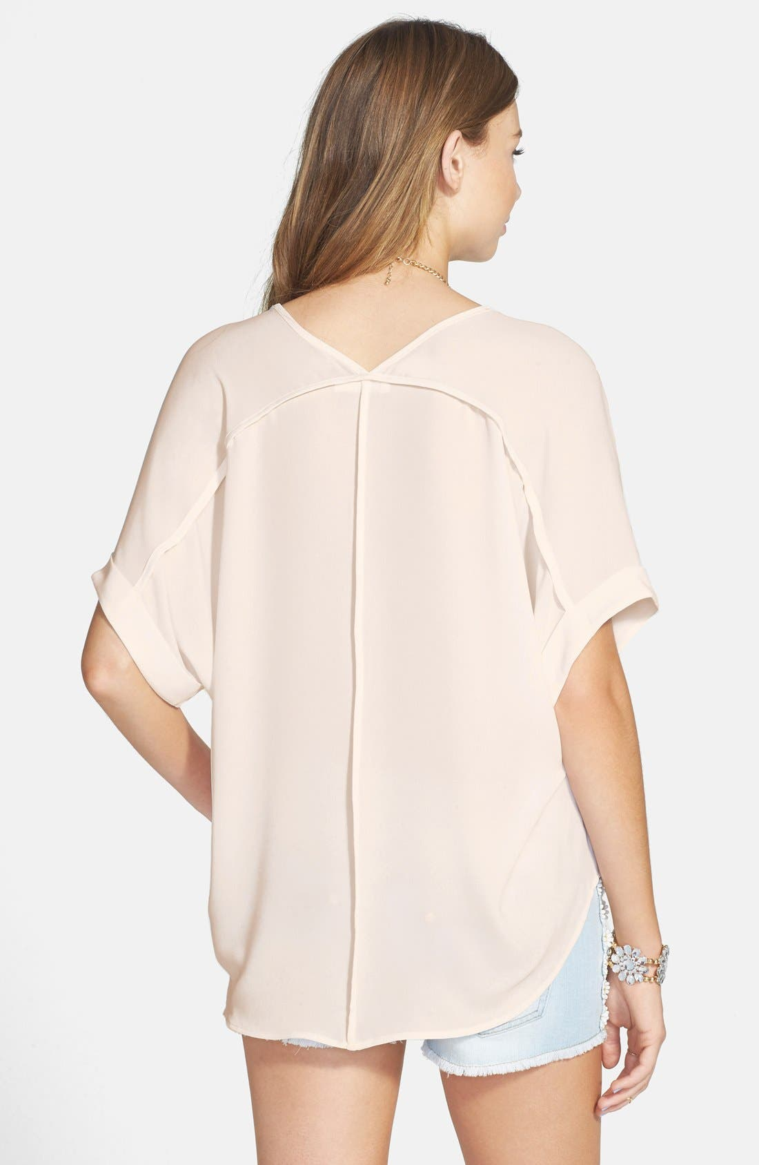 ,                             Lush Cuff Sleeve Woven Tee,                             Alternate thumbnail 181, color,                             900