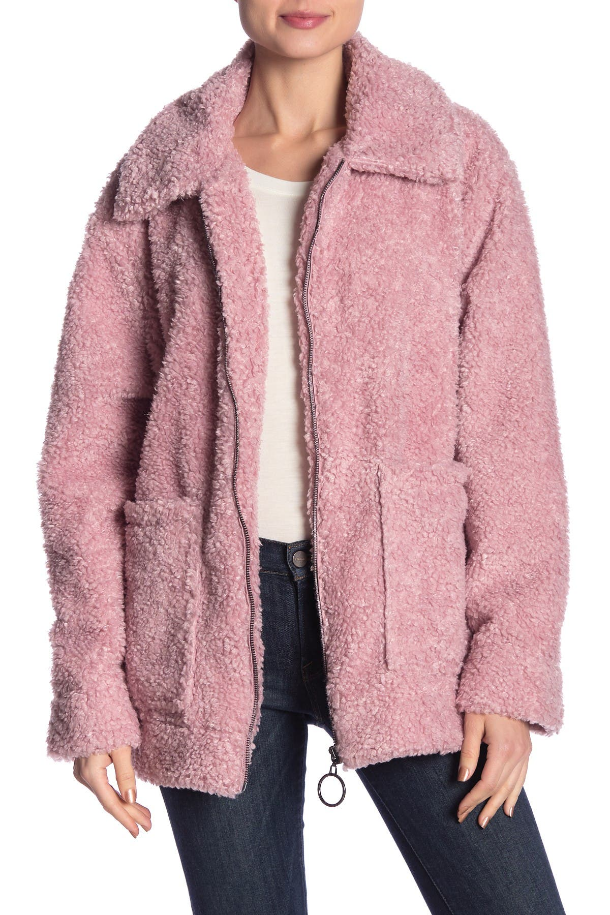Image of Steve Madden Cozy Faux Shearling Teddy Jacket