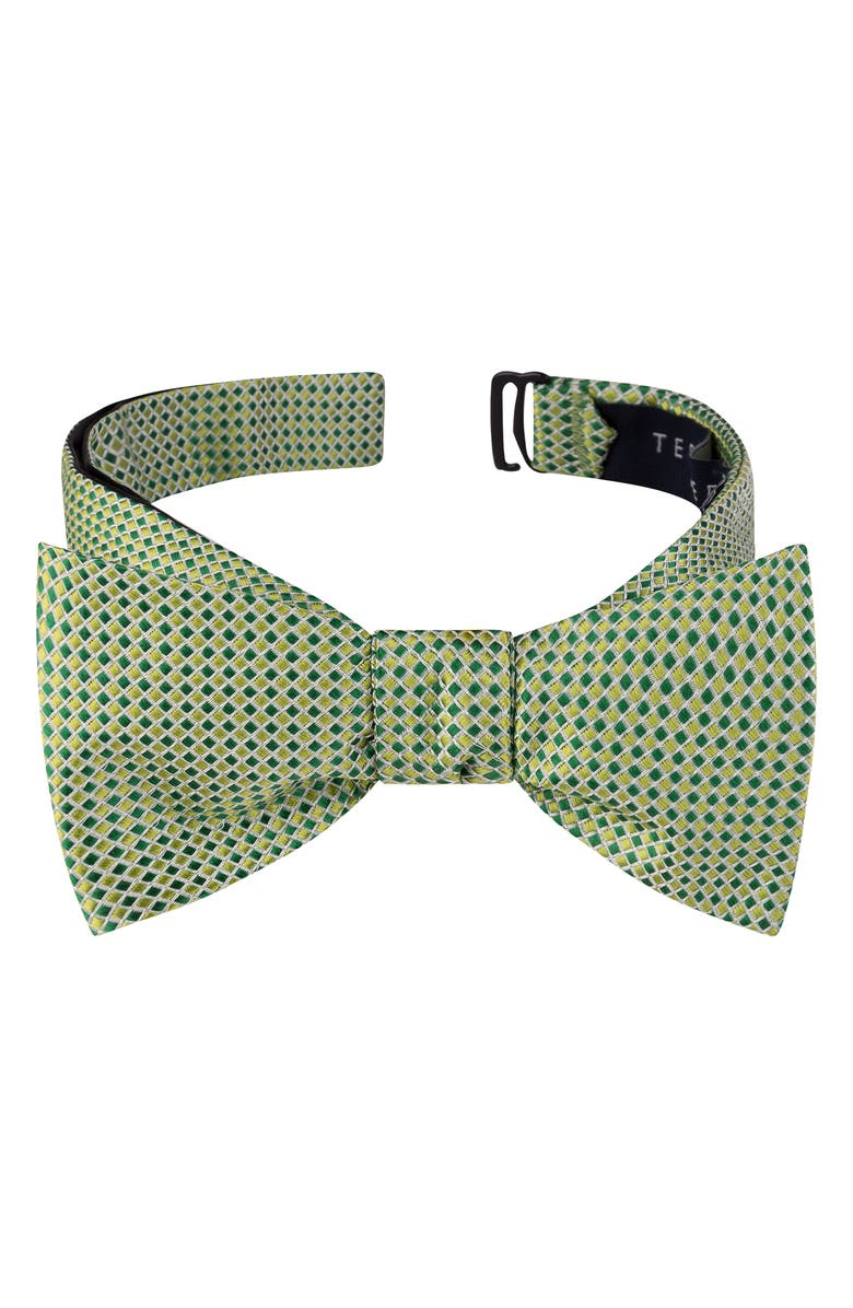 TED BAKER LONDON Check Silk Bow Tie, Main, color, GREEN