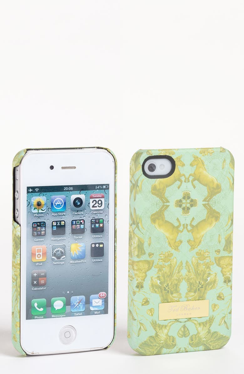 TED BAKER LONDON 'Equestrian Print' iPhone 4 Case, Main, color, 330