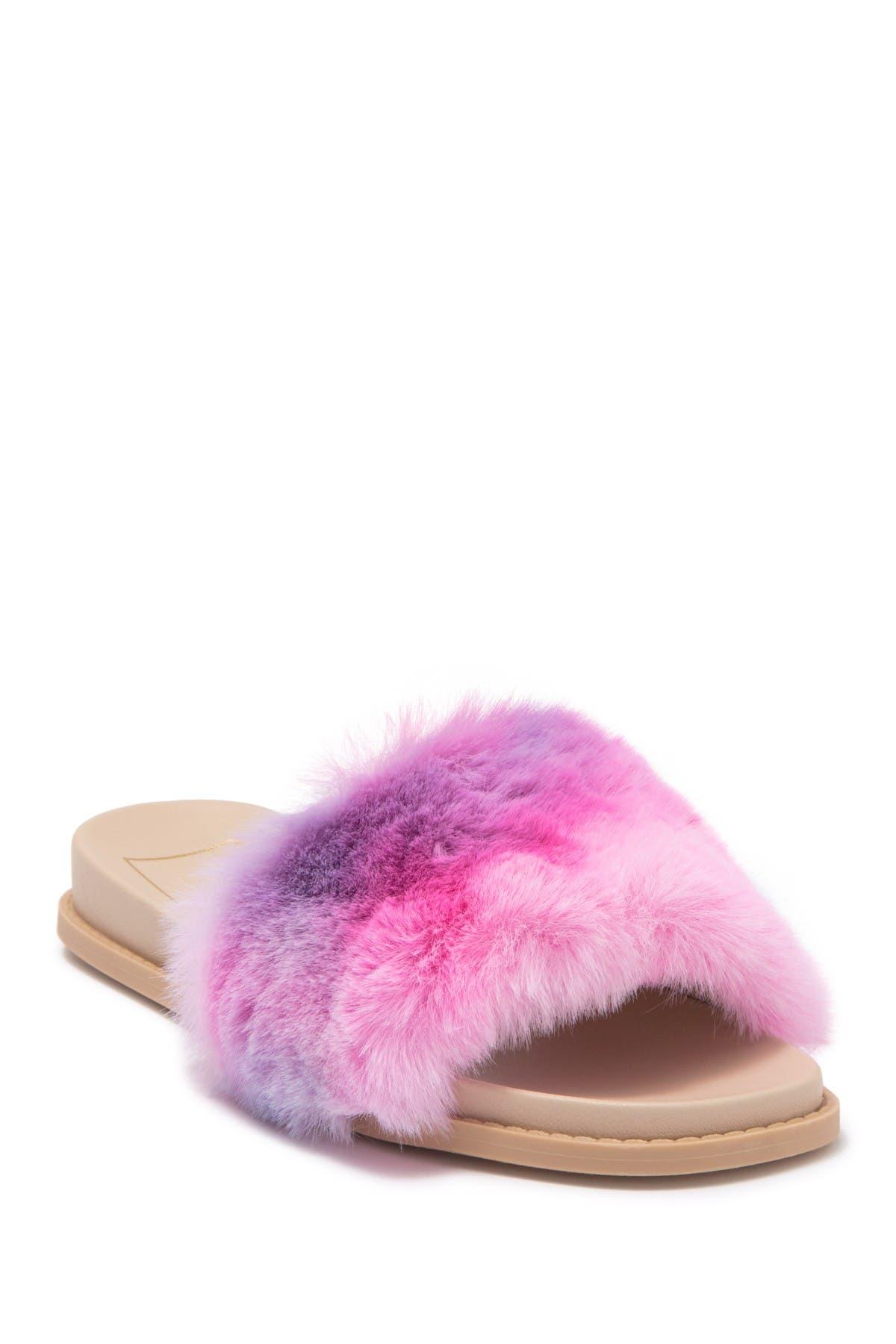 Image of Dolce Vita Gwynn Faux Fur Slide Sandal
