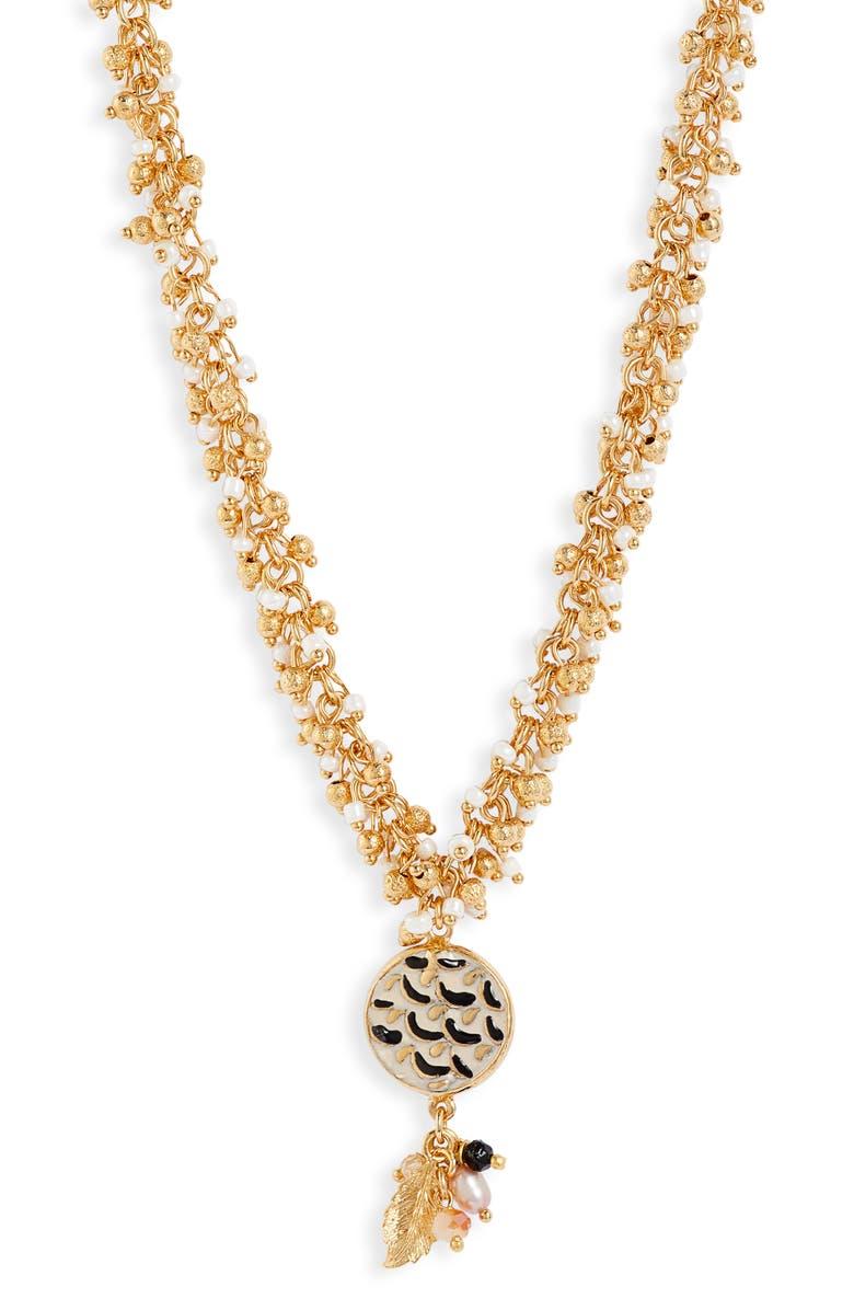 GAS BIJOUX Gioa Pendant Necklace, Main, color, GOLD