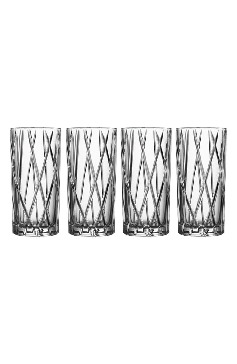 ORREFORS City Set of 4 Crystal Highball Glasses, Main, color, CLEAR
