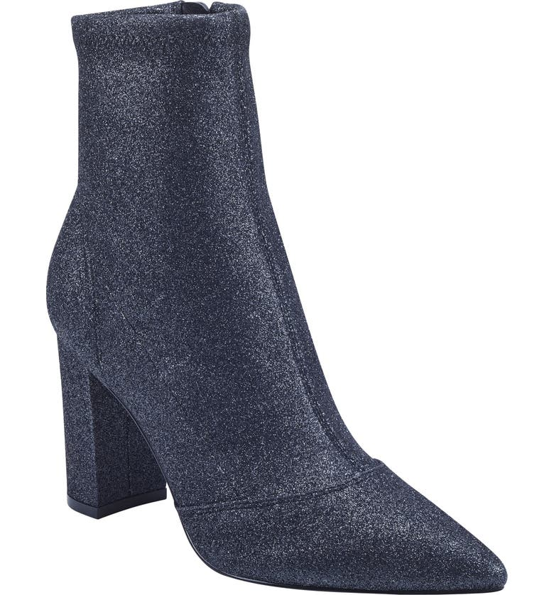 MARC FISHER LTD Umeka Bootie, Main, color, PEWTER STRETCH