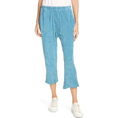 The Great. The Micro Terry Pajama Sweatpants, Blue