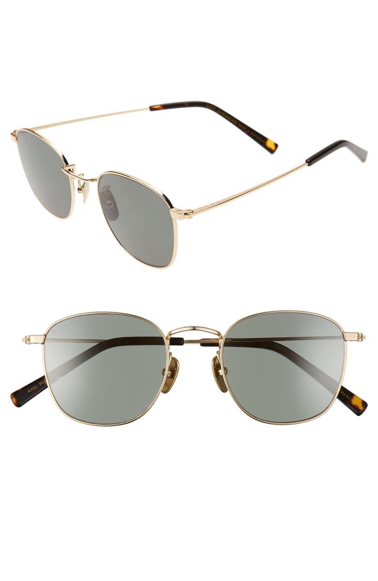 DIFF Axel 47mm Polarized Round Sunglasses, Main, color, 710