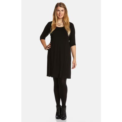 Plus Size Karen Kane Scoop Neck Jersey Dress
