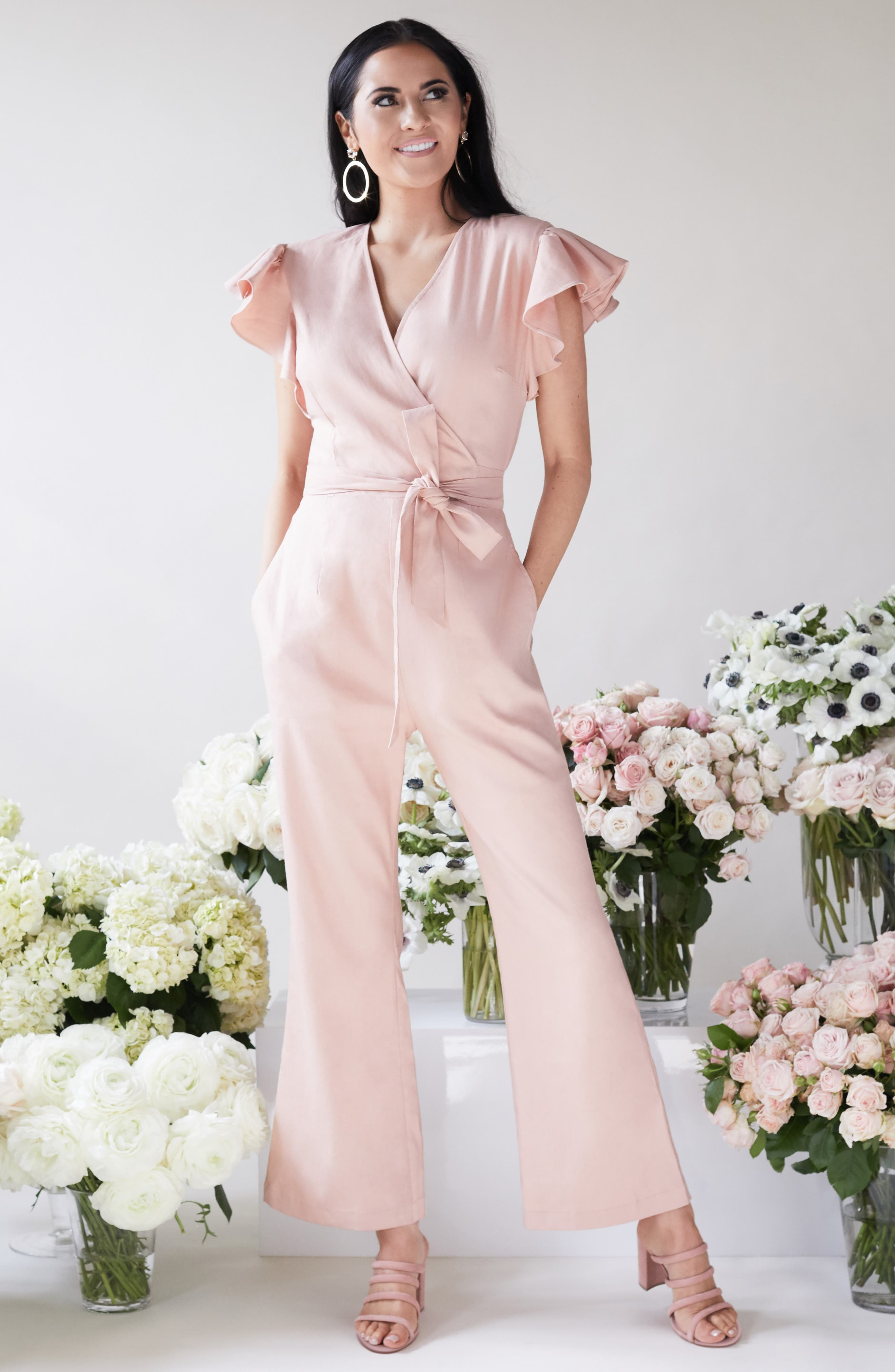 ,                             Ruffle Sleeve Jumpsuit,                             Alternate thumbnail 10, color,                             680