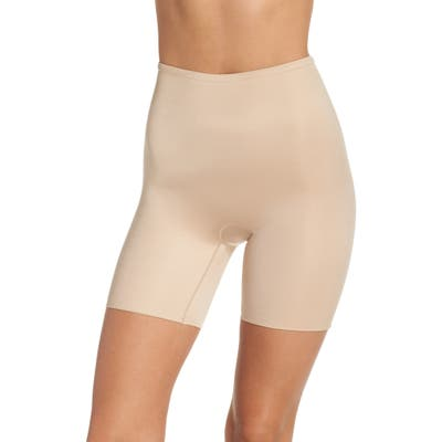Spanx Power Conceal-Her Mid Thigh Shaping Shorts, Beige