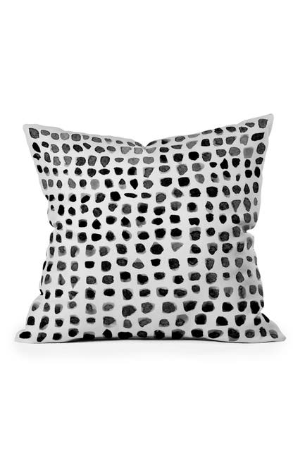 Image of Deny Designs Summer Sun Home Art Watercolor Dots Square Throw Pillow