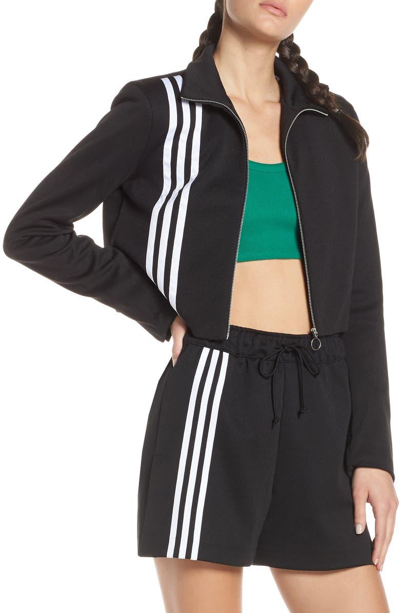 ADIDAS ORIGINALS TLRD Track Jacket, Main, color, BLACK