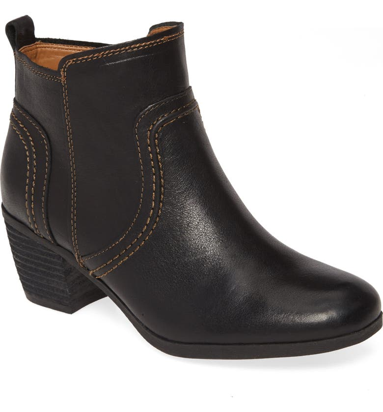 COMFORTIVA Arnon Bootie, Main, color, BLACK LEATHER