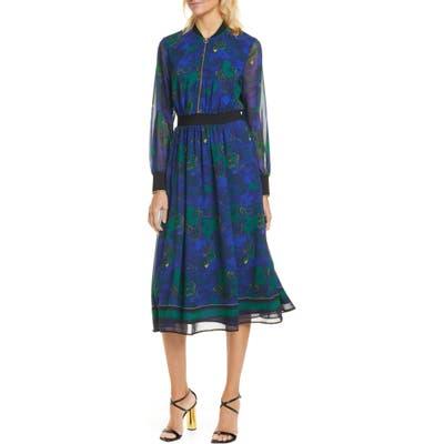 Ted Baker London Maesie Stargaze Long Sleeve Dress, (fits like 8-10 US) - Blue