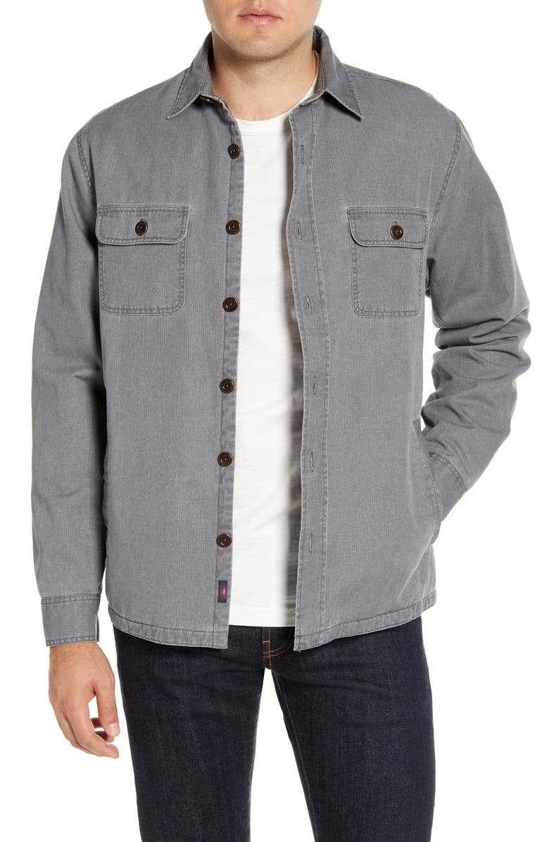 FAHERTY Blanket Lined CPO Jacket, Main, color, RUGGED GREY