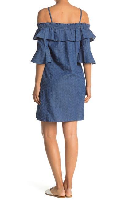 Image of Gabby Skye Off-the-Shoulder Print Dress