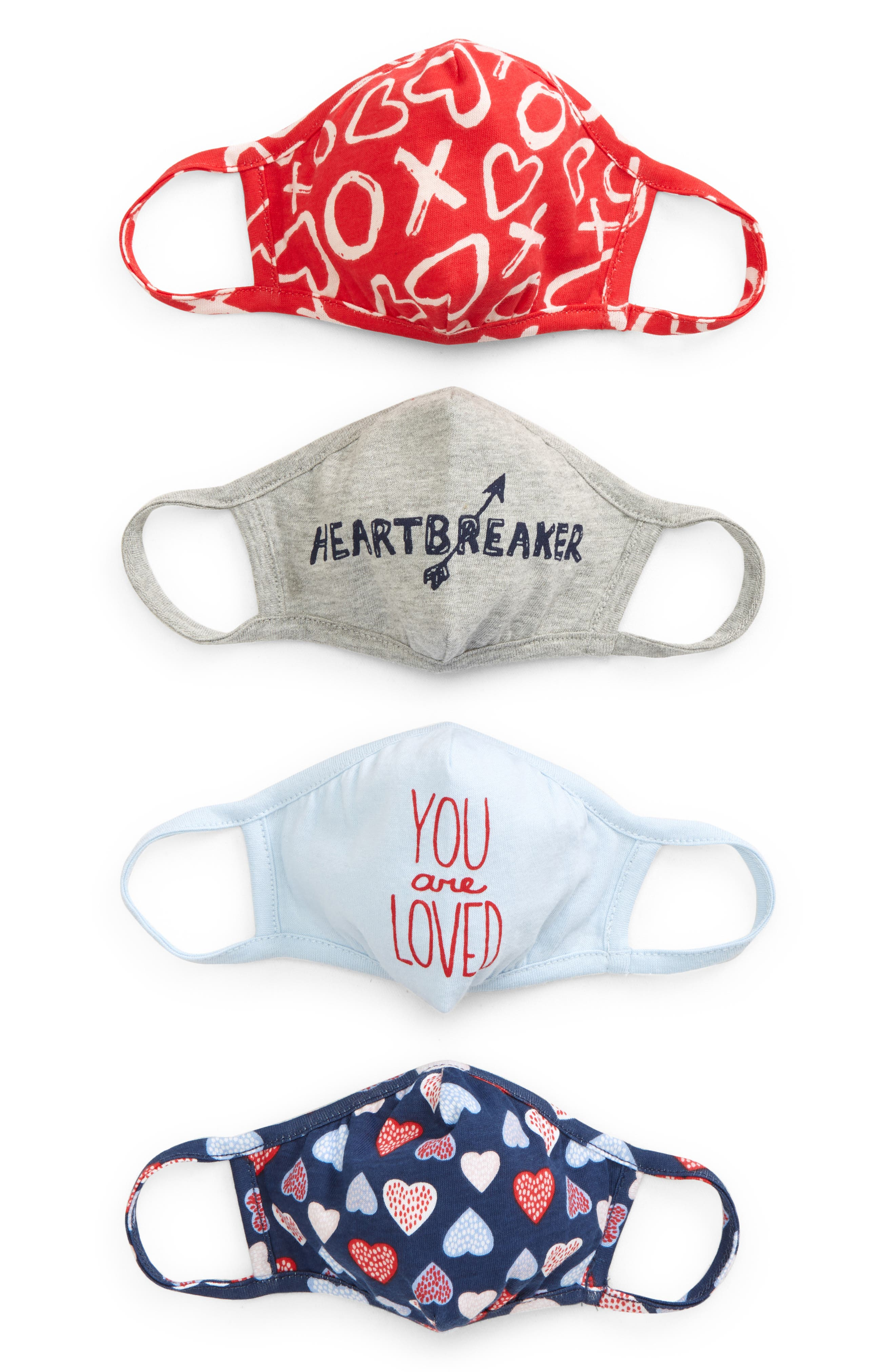 Image of Nordstrom Kids' Assorted 4-Pack Face Masks