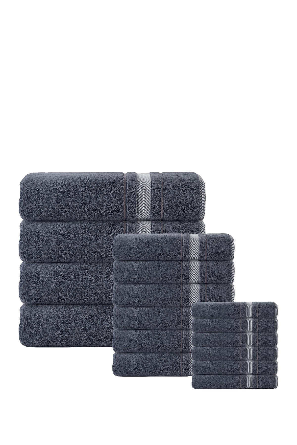 Image of ENCHANTE HOME Enchasoft Turkish Cotton 16-Piece Towel Set