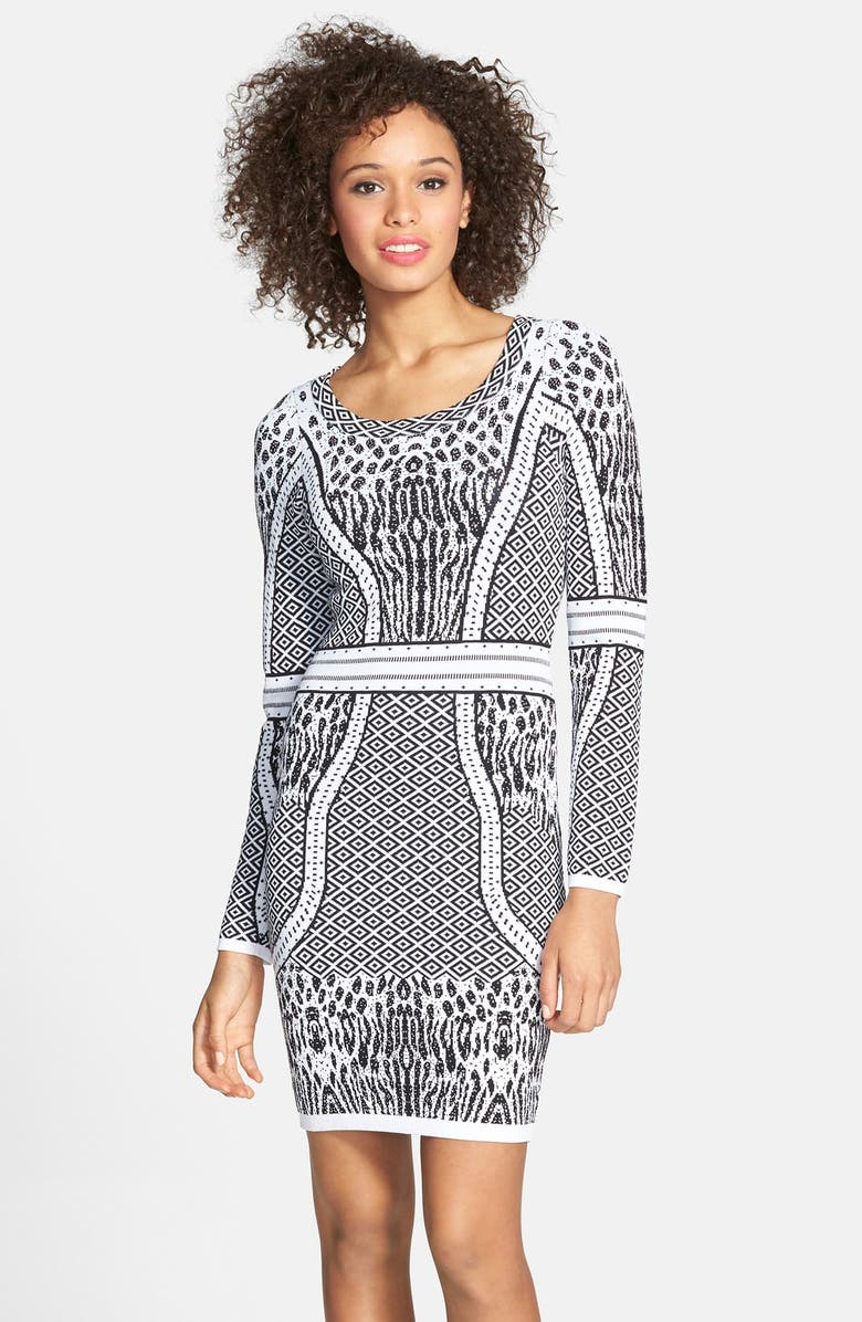 CHARLIE JADE Body-Con Sweater Dress, Main, color, 018