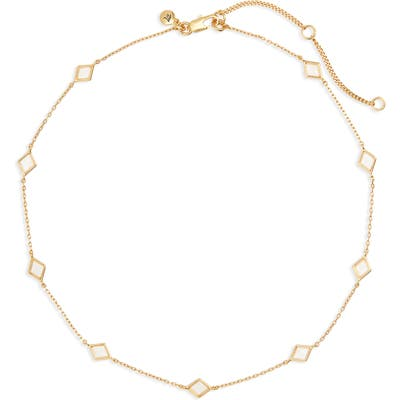 Madewell Glass Inlaid-Diamond Necklace