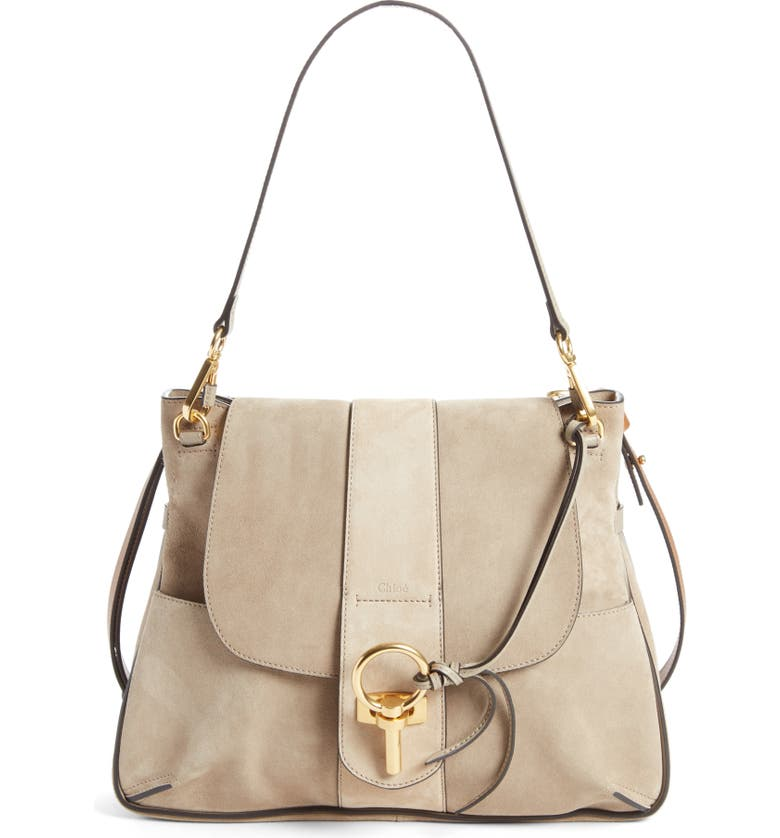CHLOÉ Medium Lexa Leather Shoulder Bag, Main, color, 031