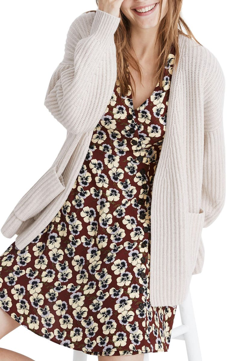 MADEWELL Redford Wool Blend Cardigan Sweater, Main, color, 021