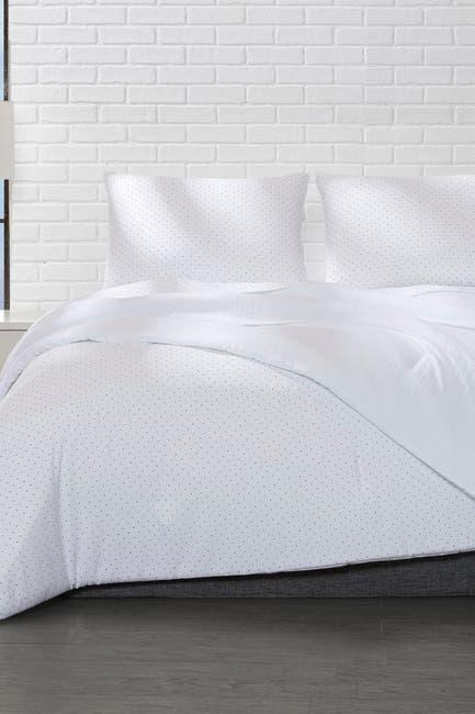 Image of Ella Jayne Reversible Microfiber Polka Dot Comforter Comforter 3-Piece Set - King/Cal King - Black