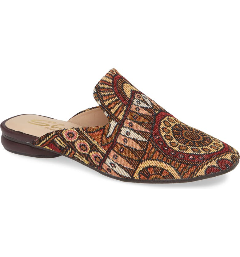 SBICCA Brienne Loafer Mule, Main, color, BROWN MULTICOLOR FABRIC