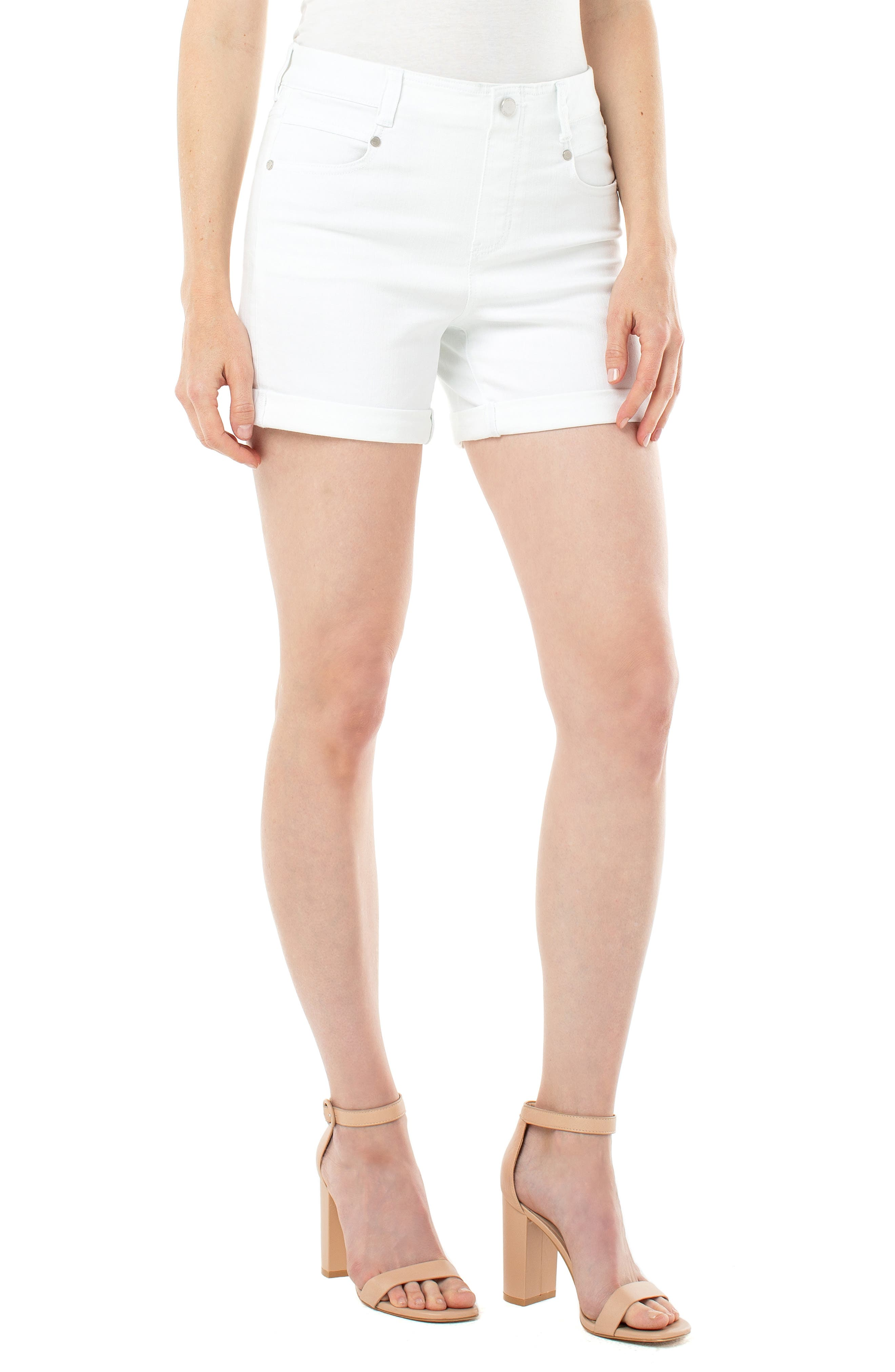 Gia Glider High Waist Roll Cuff Shorts