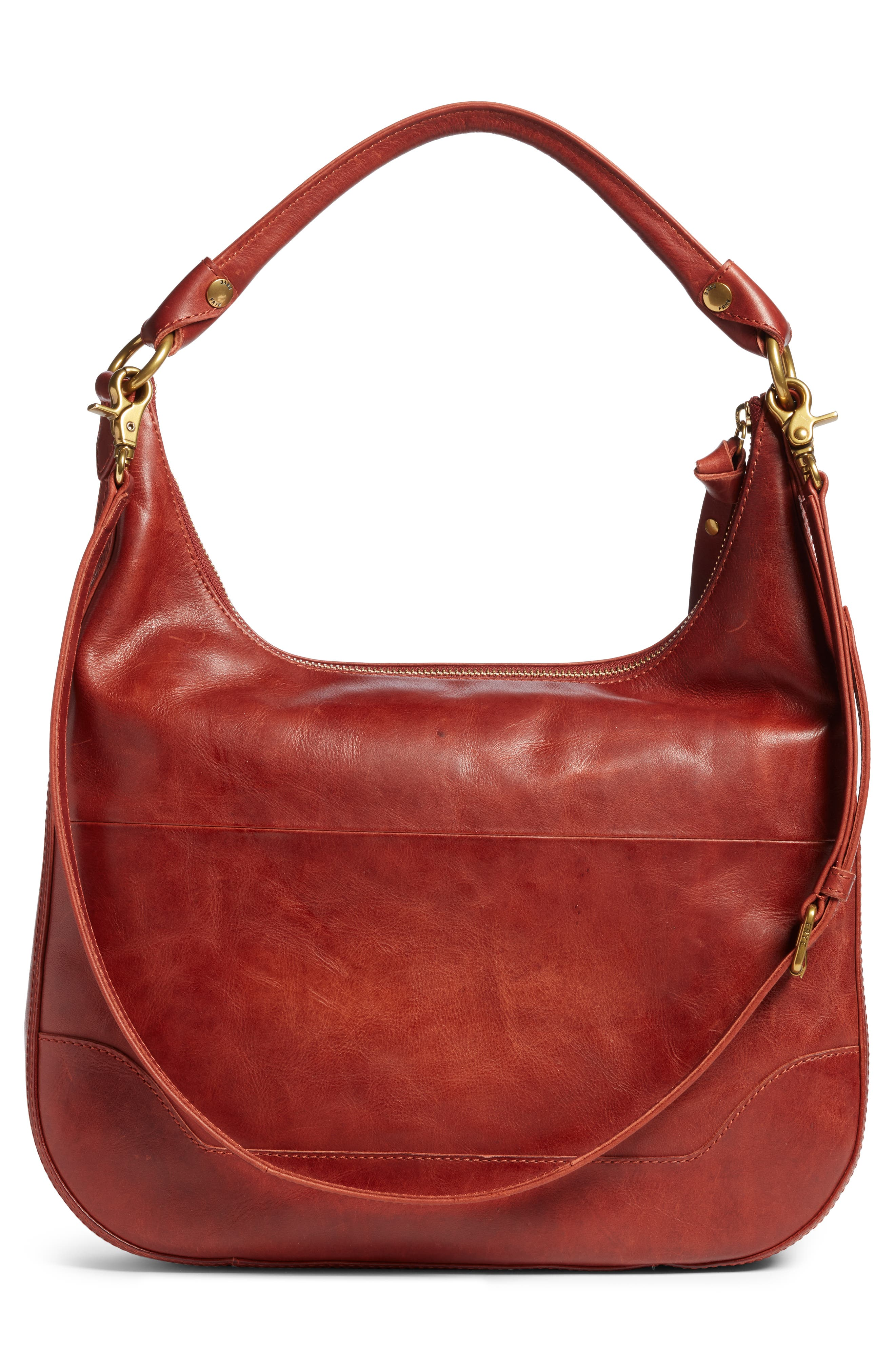 ,                             Melissa Large Leather Hobo,                             Alternate thumbnail 3, color,                             600