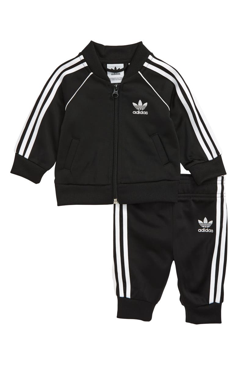 ADIDAS Originals Superstar Track Jacket & Pants Set, Main, color, BLACK/ WHITE