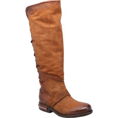 A.s.98 Teagan Woven Knee High Boot - Brown