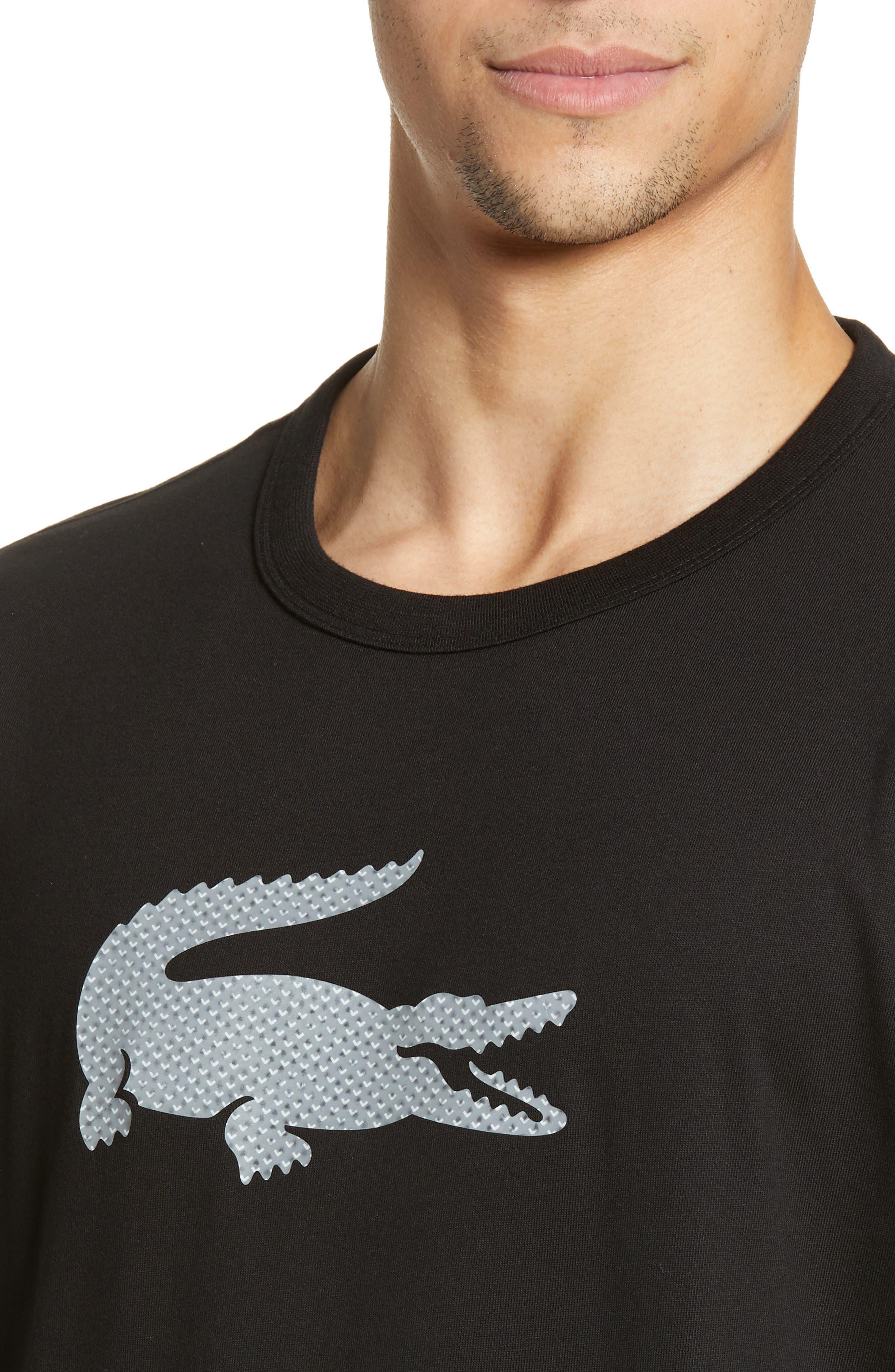 ,                             Premium Transfer Logo T-Shirt,                             Alternate thumbnail 4, color,                             BLACK