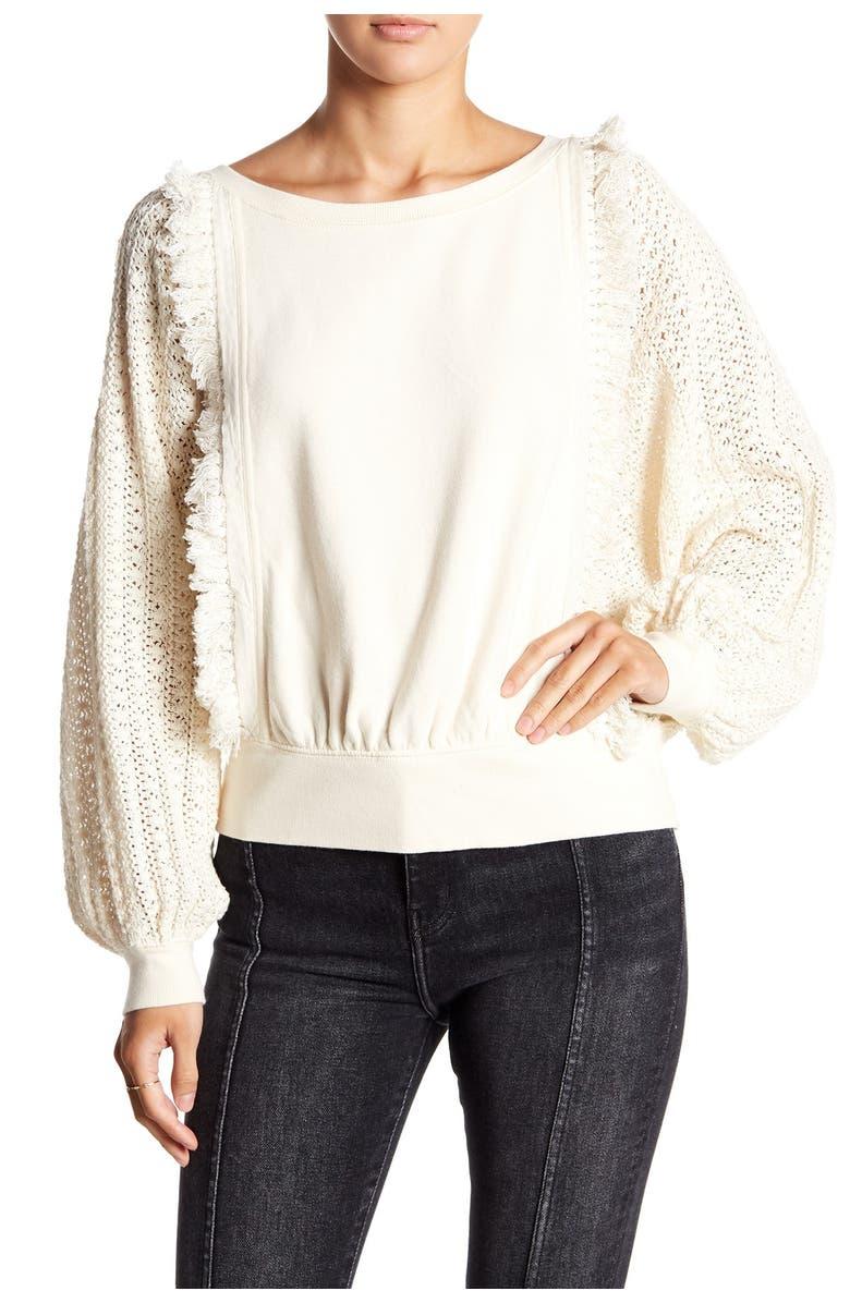 FREE PEOPLE Faff Fringe Sweater, Main, color, 103