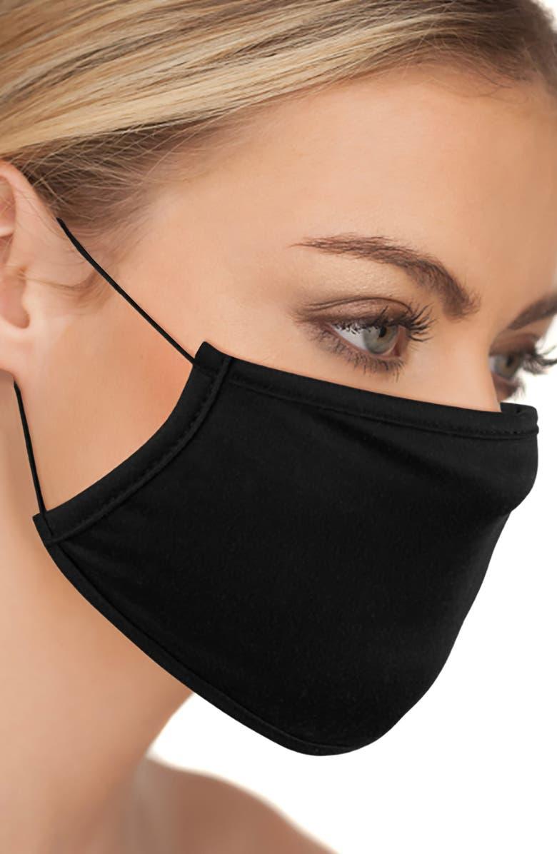 LOVE CHANGES 6-Pack Black Adult Face Masks, Main, color, BLACK
