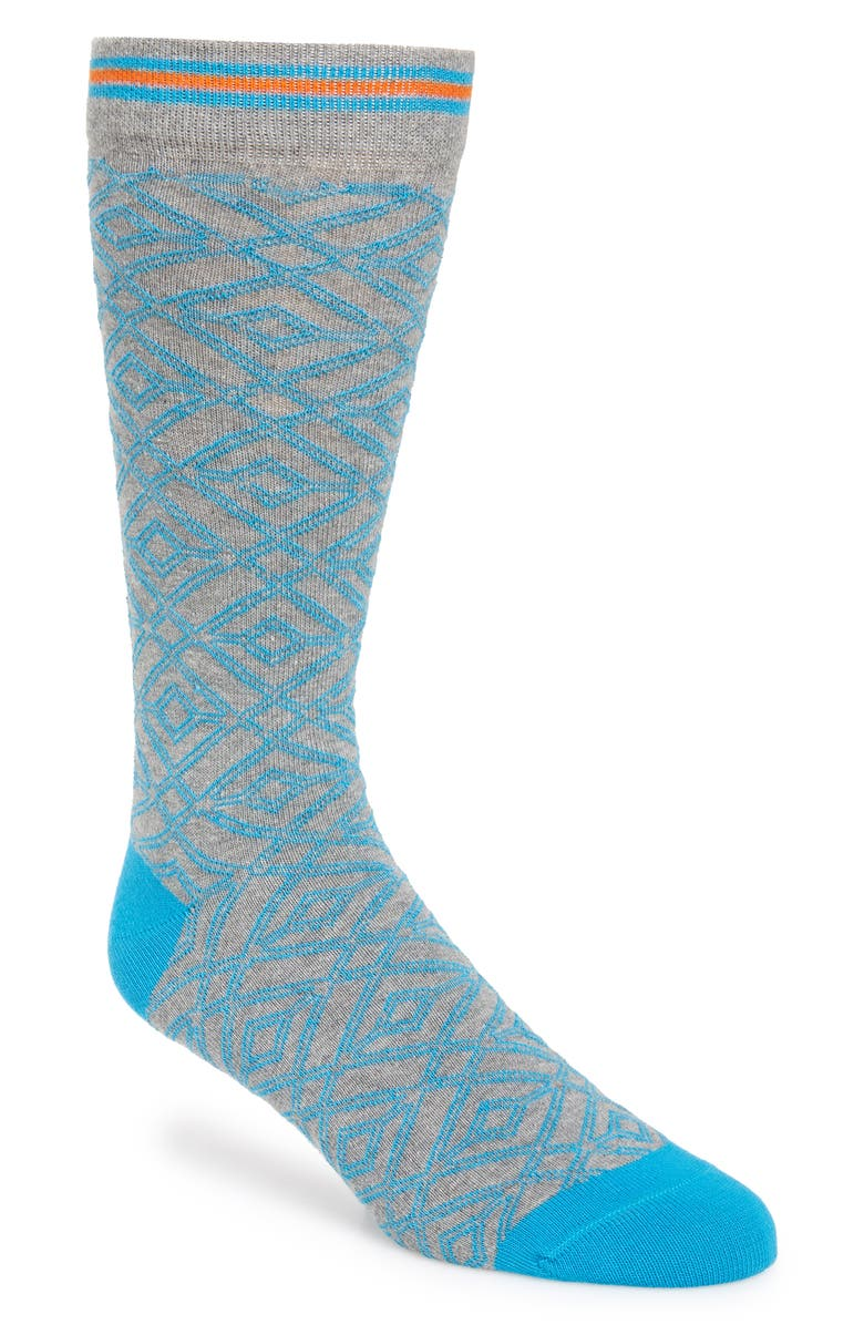 TED BAKER LONDON Diamond Socks, Main, color, 030
