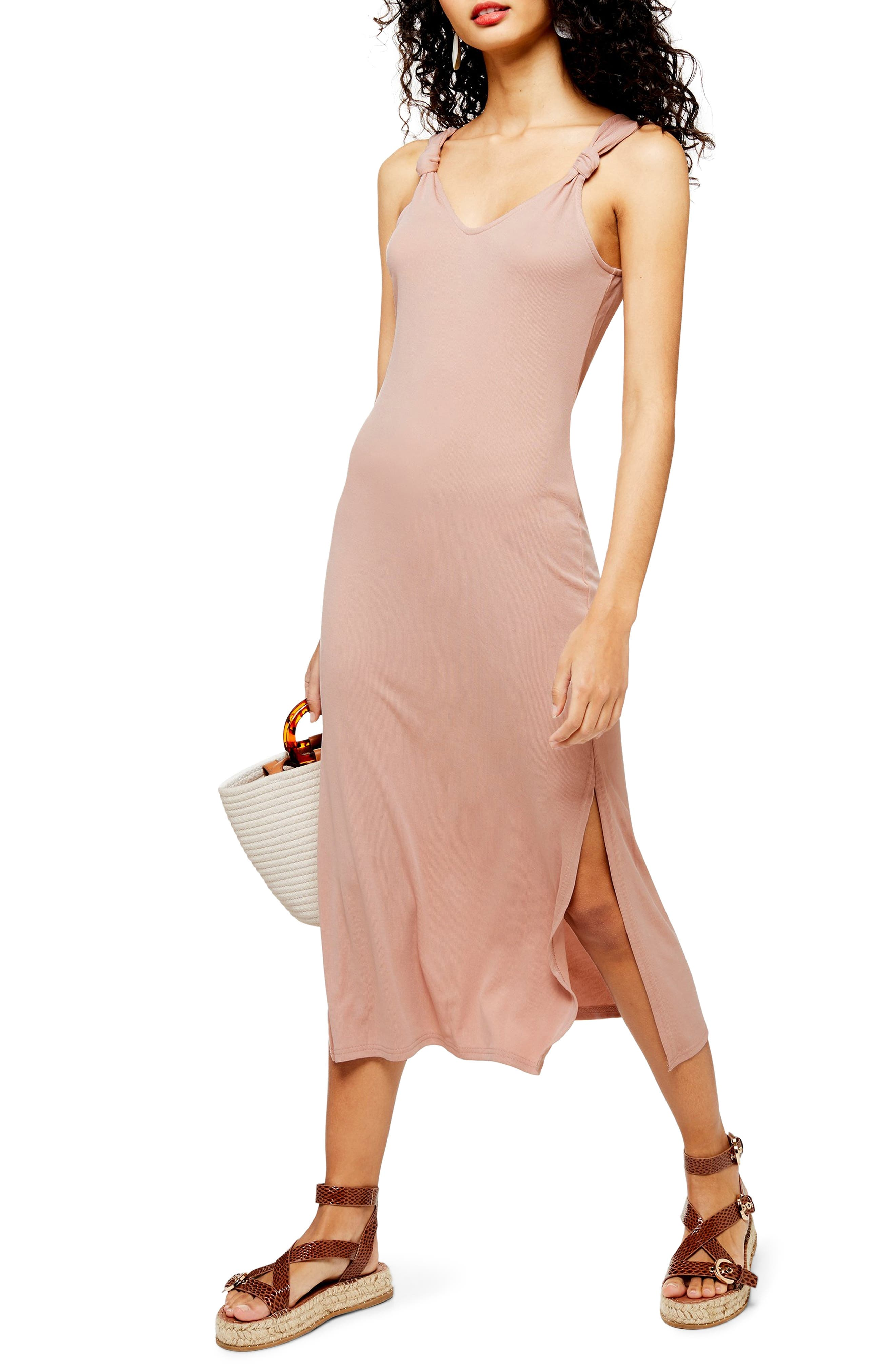Topshop Midi Dress, US (fits like 0-2) - Brown