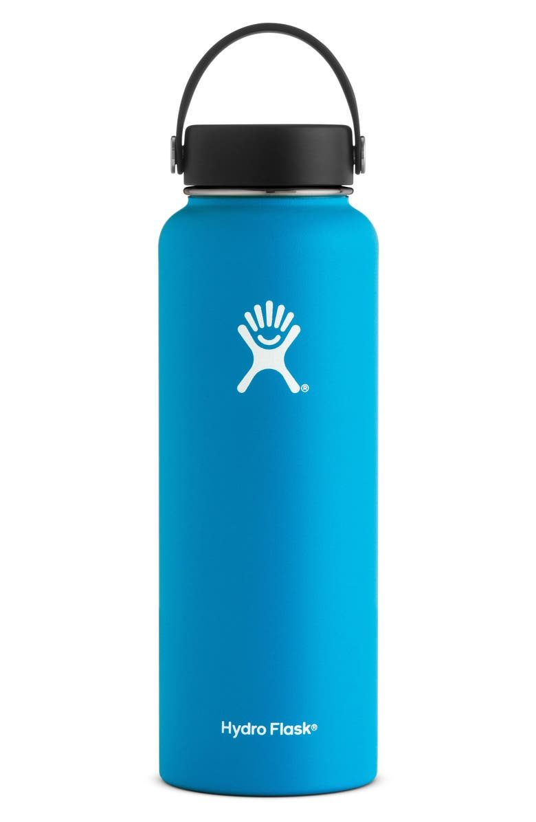 HYDRO FLASK 40-Ounce Wide Mouth Cap Bottle, Main, color, PACIFIC