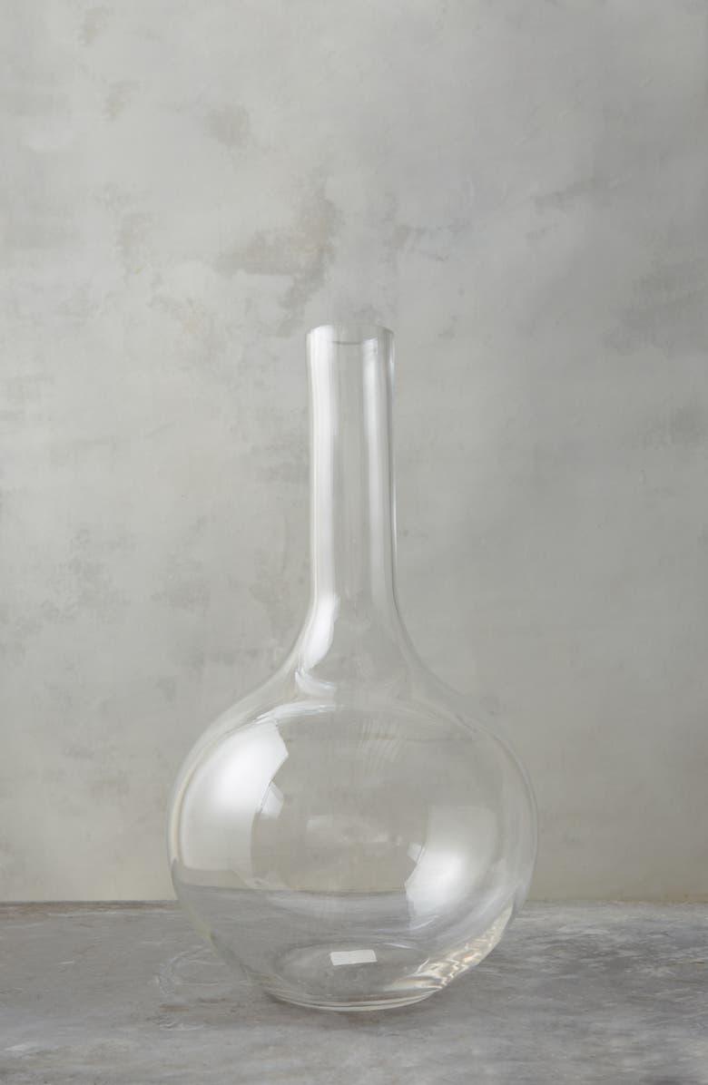 TERRAIN Clear Glass Single Stem Vase, Main, color, CLEAR-LARGE