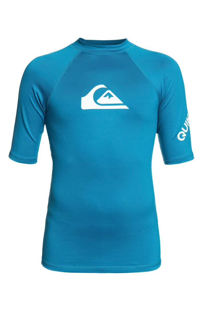 QUIKSILVER All Time Rashguard Top, Main, color, CRYSTAL TEAL