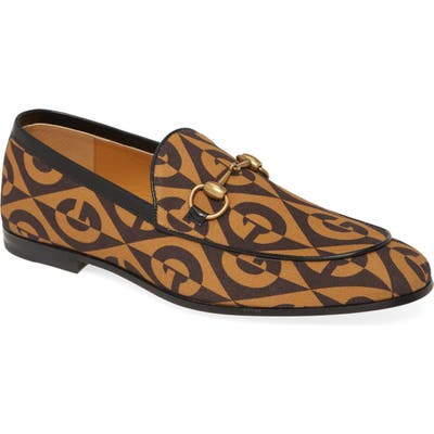 Gucci New Jordaan Bit Loafer, Brown
