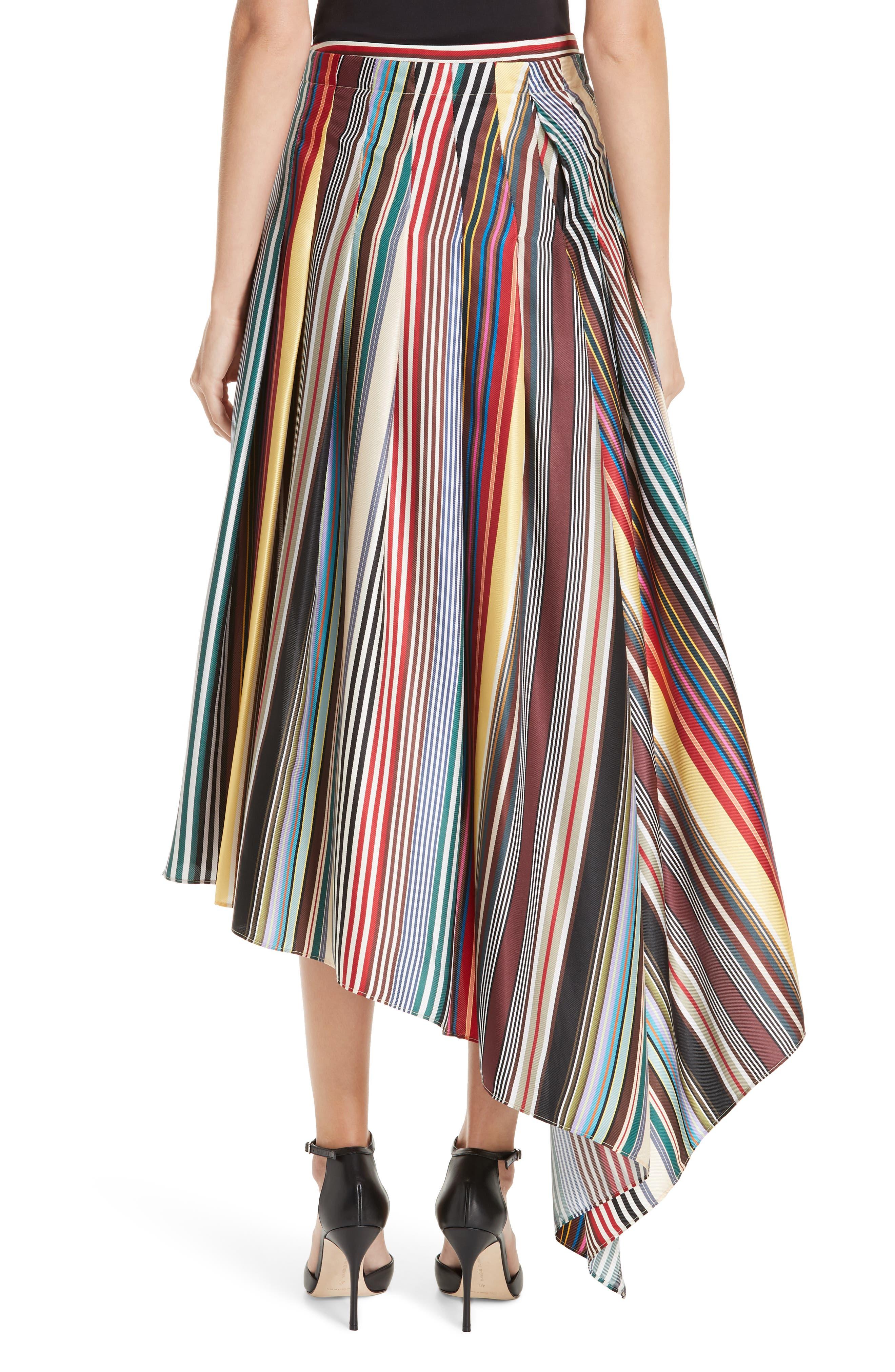 Monse Shorts Stripe Silk Shorts with Overskirt